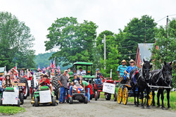 Peacham Tractor Parade Posse