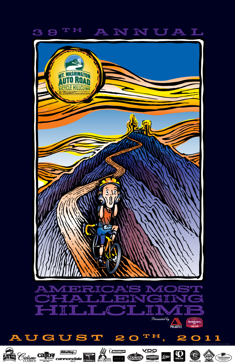 Mt Washington Hillclimb poster 2011