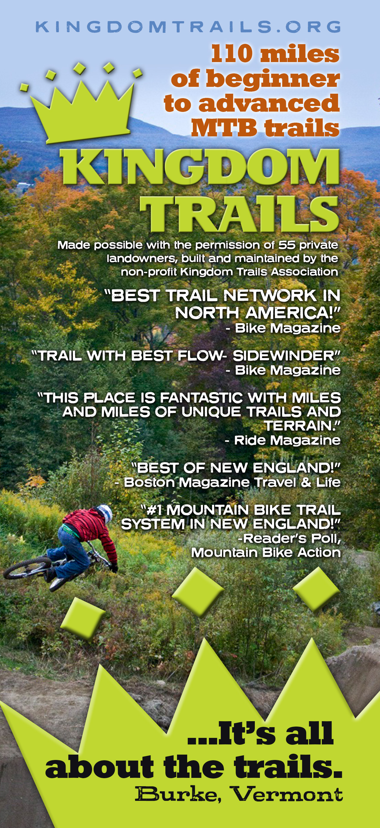 Kingdom Trails rack card