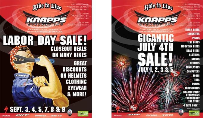 Knapp's Cyclery Ads