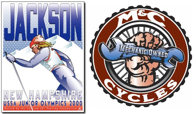 Jackson and M&C Cycles illustrations