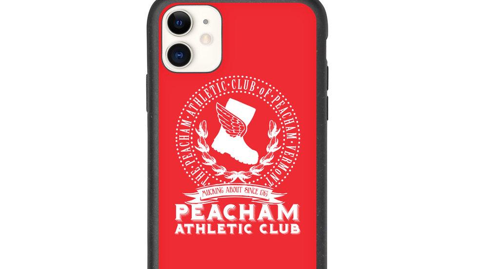 Red Peacham Athletic Club Biodegradable phone case