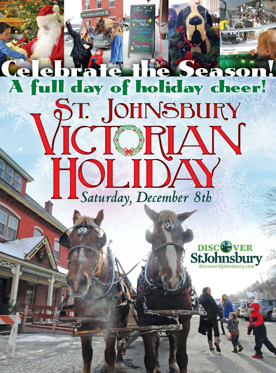 St J Victorian Holiday Poster