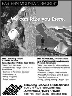 EMS Climbing School/Travel Ad