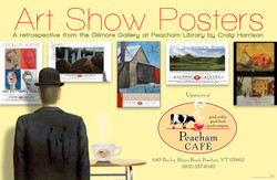Peacham Cafe Art Show Poster