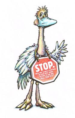 Ostrich Warning Sign