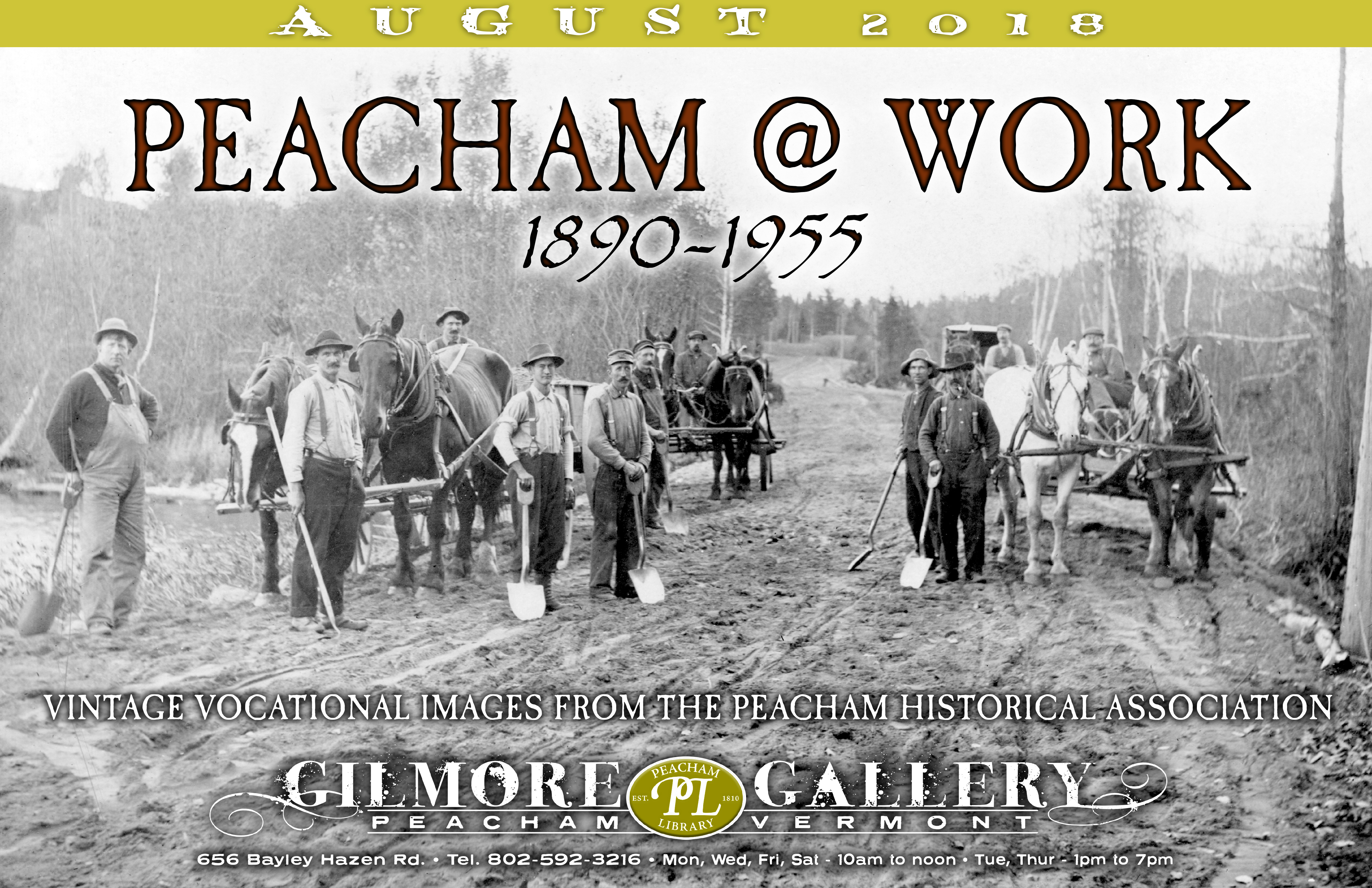 Peacham at Work Gallery Poster