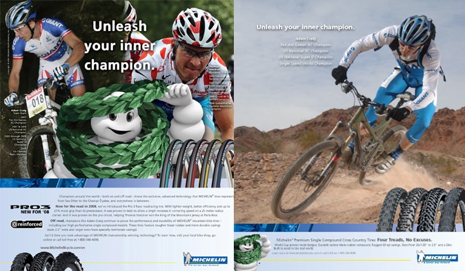 Michelin MTB full page ads