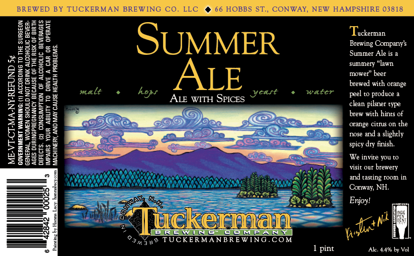 Summer Ale Can Label