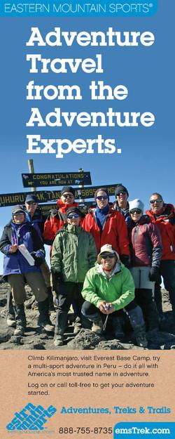 Eastern Mountain Sports Travel Ad