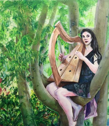 Harpist In a Tree