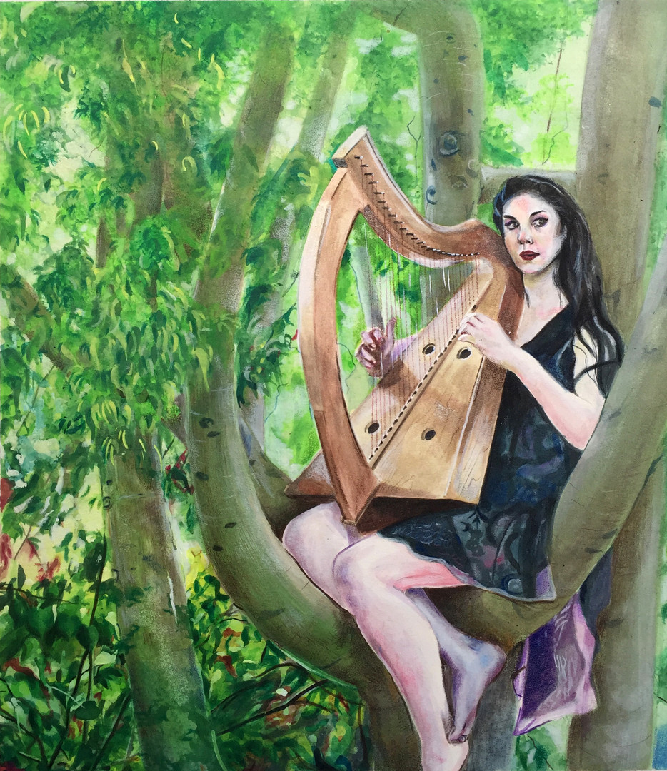 Harpist In a Tree