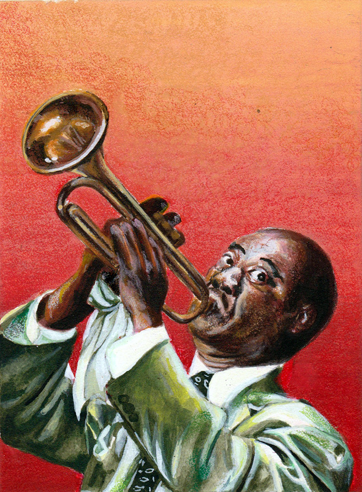 Louis Armstrong stamp test design