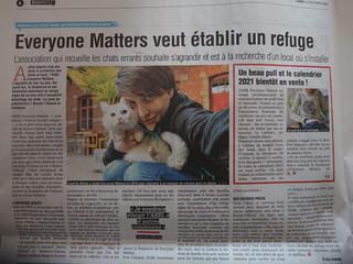 EM dans la presse : L'ASBL Everyone Matters cherche un local à Braine-l'Alleud (La Capitale)