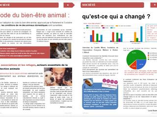 EM dans la presse : code du bien-être animal (Cef Actu)