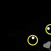 Illustration chat noir aux yeux jaunes - adoption, stérilisation