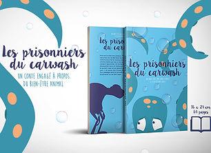 """Conte pour enfants """"Les prisonniers du carwash"""" en faveur du bien-être animal, en collaboration avec Sans Collier ASBL vendu au profit des chats"""
