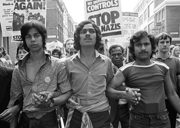 Protest taking place in 1978 in response to the murder of a Bangladeshi man.
