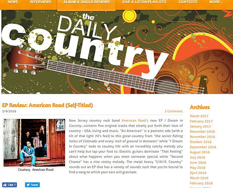 American Road EP Review - The Daily Country