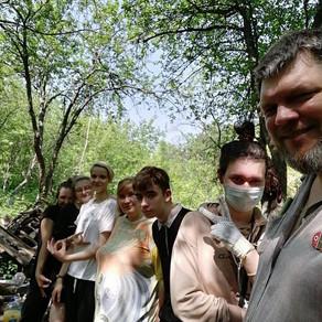 Студенты колледжа помогли обустроить Самарские Лесные Сады