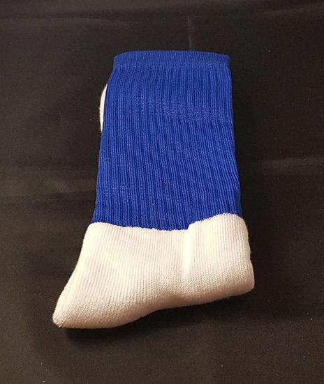 Blue socks without stripes