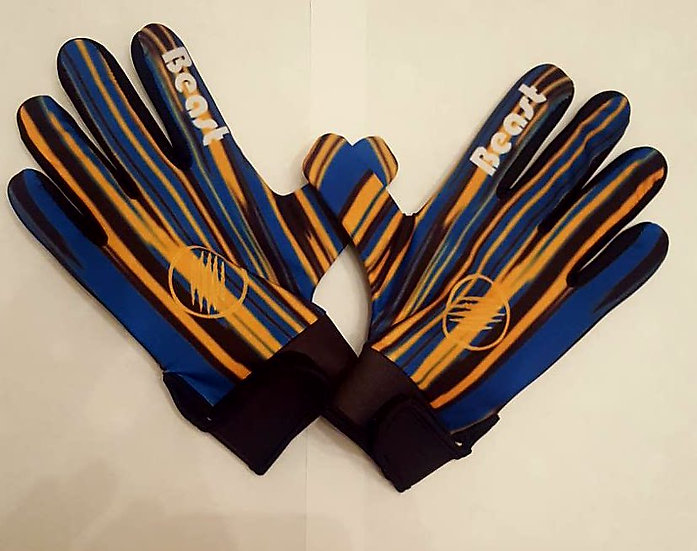 Blue and Gold Gaelic Football Gloves
