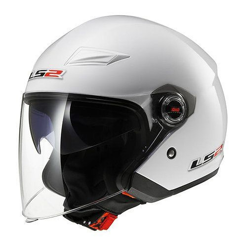 LS2 OF569 Track Openface Helmets White