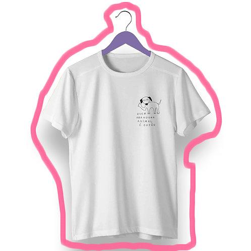 T-shirt Quem abandona animal é C*zão
