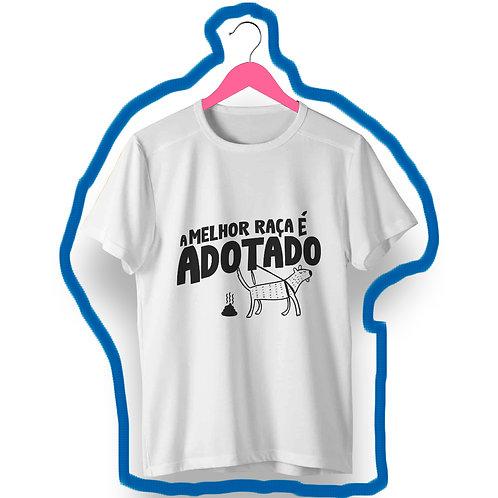 T-shirt A melhor raça Adotado