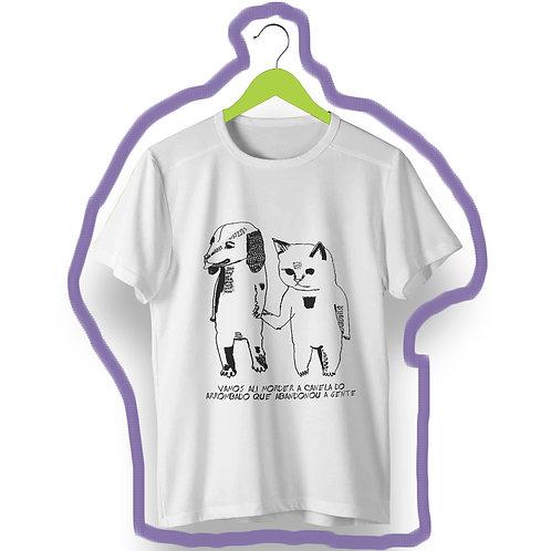 T-shirt Vingança Cat Dog