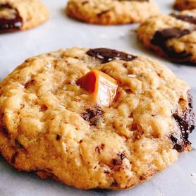 Day 314: Chocolate Caramel Oatmeal Cookies