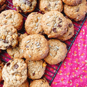 Week 16: Sunflower Seed Oatmeal Cookies (Kansas)