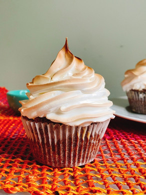 Week 2: Baked Alaska Cupcakes (Alaska)