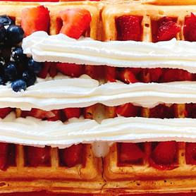 Day 113: Patriotic Waffles