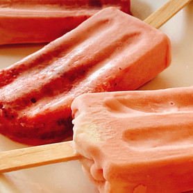 Day 111: Strawberries and Cream Popsicles