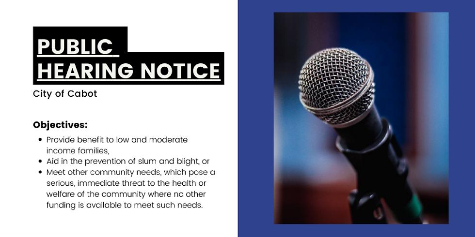 Public Hearing - City of Cabot - February 2021