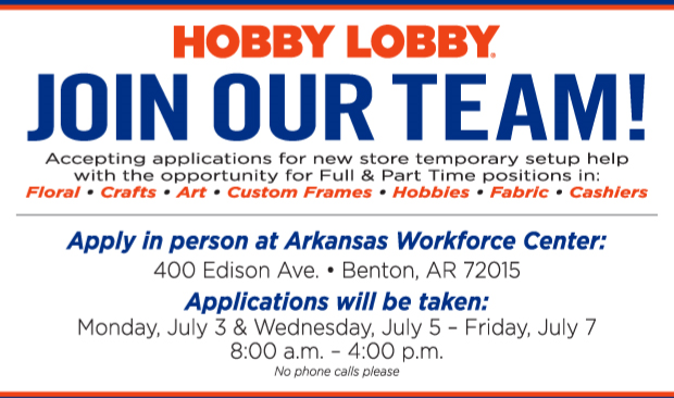 Hobby Lobby Hiring Event