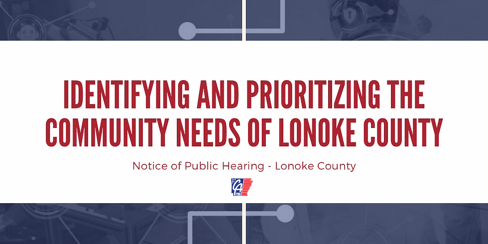 Notice of Public Hearing - Lonoke County