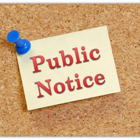 INVITATION FOR PUBLIC COMMENT FOR LONOKE COUNTY