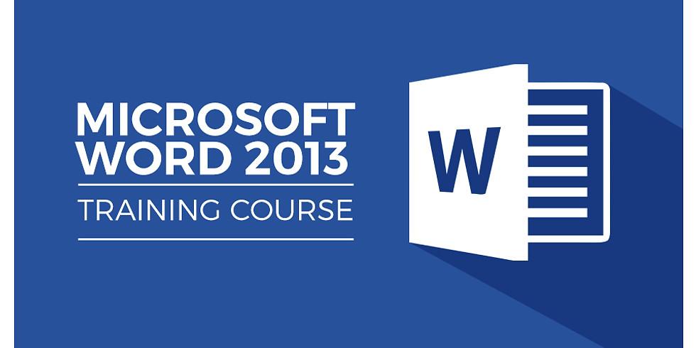 Microsoft Word 2013 Basic - October 2021