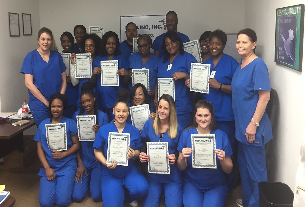 Medlinc CNA Class had a successful completion rate of 100%.