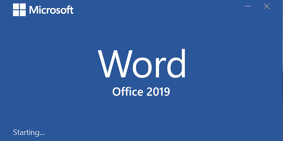 Introduction to Microsoft Word 2019/365