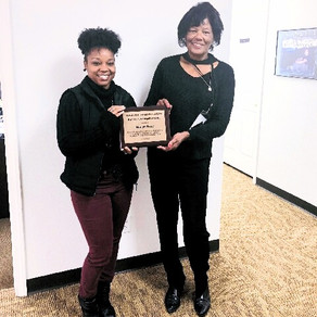 LOCAL CAREER CONSULTANT RECEIVES AWARD FOR COMMUNITY INVOLVEMENT
