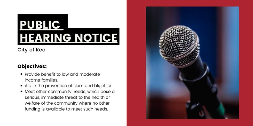 Public Hearing - City of Keo - February 2021