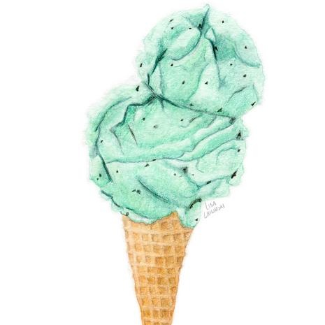 Choc Mint Icecream