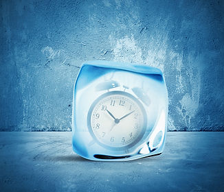 Concept of freeze time  with alarm insid