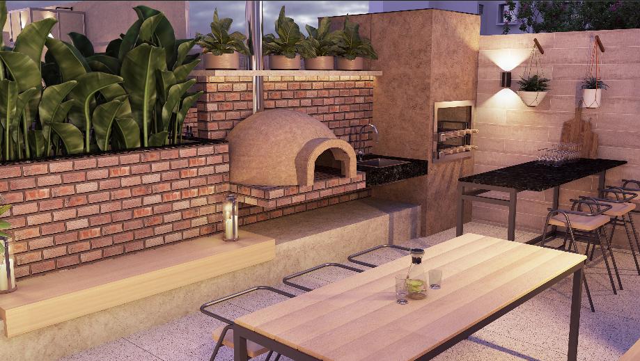 Churrasqueira 1: forno de pizza
