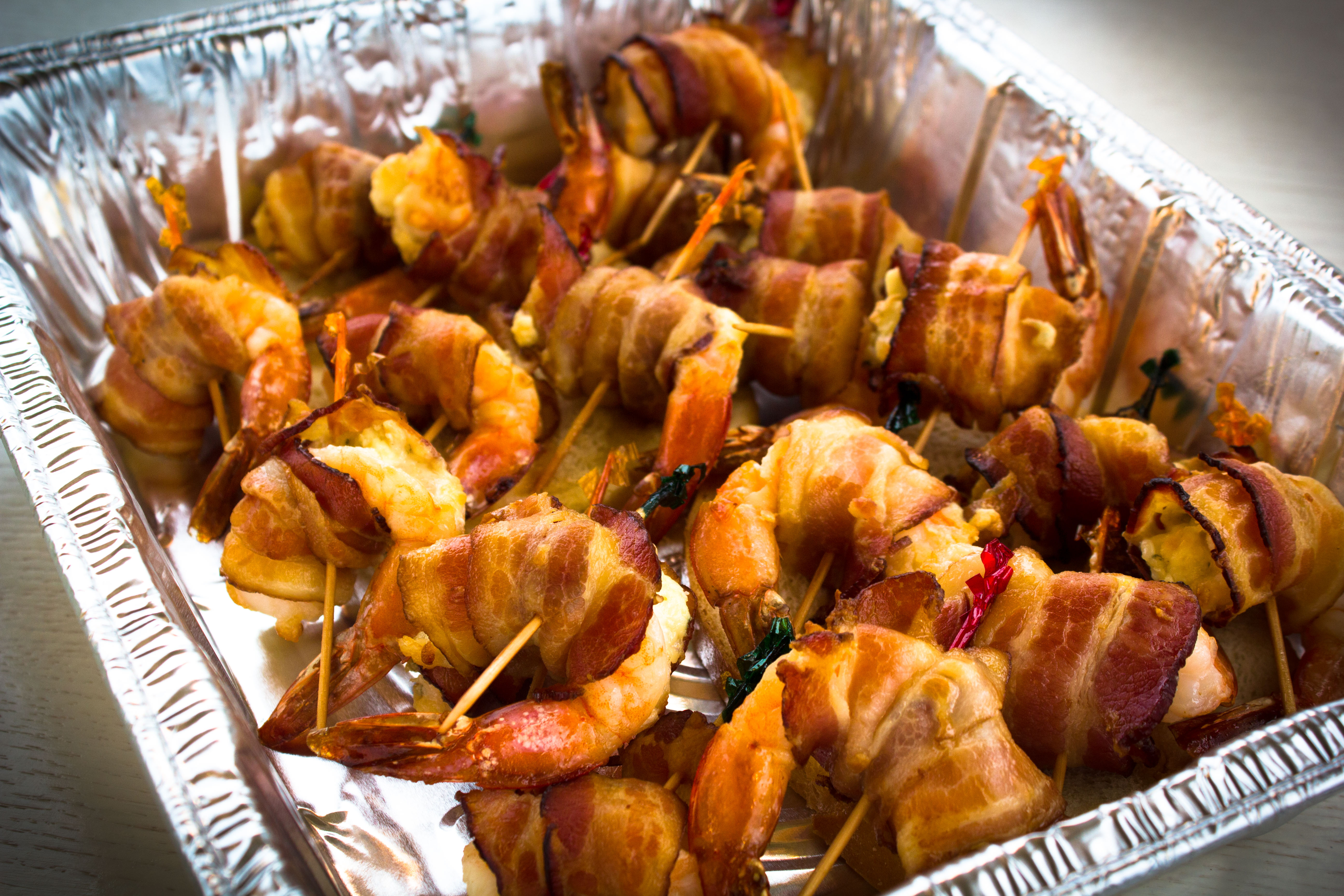 Baked Wrapped Shrimp Catering-1