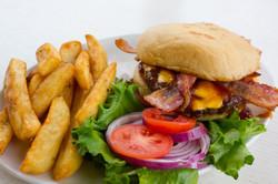 Zesty Burger w- fries 2-1