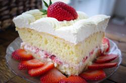 Strawberry Wedding Cake Piece 1